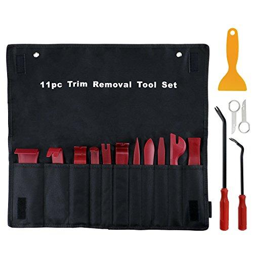 Fixget Auto Entfernung Werkzeug, 16 Stück Auto Türverkleidung Remover Kit Werkzeuge Auto Türverkleidung Entferner Tür Trim Entfernung Werkzeug Set Auto Reparatur Tool