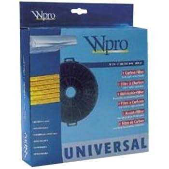 Wpro fac549 filtre de hotte charbon d210 avec pattes de - Hotte de cuisine avec filtre a charbon ...