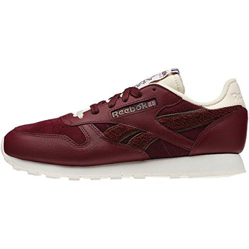 Reebok CL Lthr Ivy League Sport Scarpe da ginnastica Red - Wine red