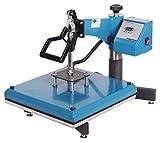 RICOO T538B-AZ Transferpresse Textilpresse Textildruckpresse Schwenkbar Thermopresse Transferdruck Bügelpresse Textil T-Shirtpresse Sublimationspresse für Flexfolie und Flockfolie/Azur-Blau
