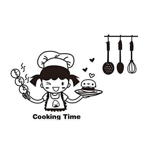Adesivo per interruttore di illuminazione da cucina tianranrt, cucina Mignonne, vinile, Adesivo da parete, Décor a casa (A), multicolore