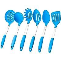 JSS-Set da cucina in Silicone, resistenti al calore, utensili da cucina-Set di 6 utensili da cucina in Silicone
