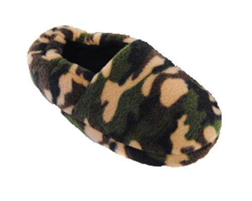 Boy Armee Camouflage Design-Hausschuhe Größen 9-3 erhältlich Mehrfarbig