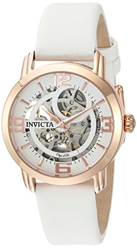 Invicta Women's Analog Automatic-self-Wind Watch with Satin Strap 22655
