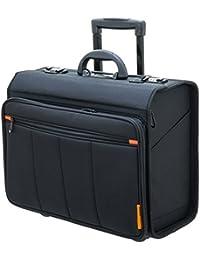"Davidts Business Trolley Laptop 17"" Groß Netbook Tablet POLYSTER 46x35x23cm Schwarz 257 713 Bowatex"