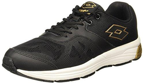Lotto Men's Highrun Black/Gold Running Shoes-9 UK/India (43 EU) (AR4856-030)