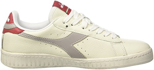 L Bianco Game Diadora Sneaker Herren Grigio Elfenbein Low Paloma Waxed ASPEqS