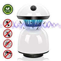 MASTERTOP Multifunction Mosquito Lamp LED Electronic Insect Built in Fan Insect Trap Powered Mosquito Bug Zapper for Indoor/Outdoor Bedroom Baby Night Light