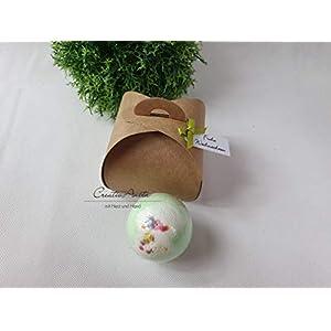 Badekugel – Melon Mambo mit toller Geschenkverpackung – Kraftpapier