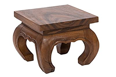 Opium Coffee Table 25x20cm, from solid wood (Albizia lebbeck)