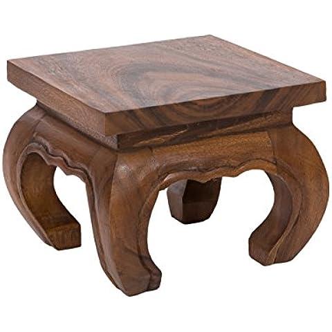 Tavolo da oppio, 25x20cm, da legno massiccio (Albizia