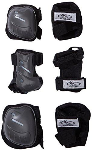 HUDORA Biomechanisches Protektorenset, schwarz/grau, Gr. S, 83029