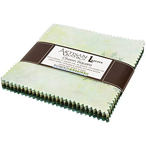Lunn Studios Artisan Batiks Color Source 42 5-inch Fabric Quilting Squares Robert Kaufman CHS-390-42 by Robert Kaufman Fabrics