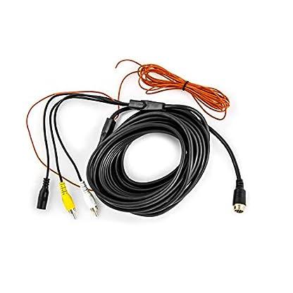 Carmedien-Rckfahrkamera-Anschlusskabel-5m-10m-15m-Verbindungskabel-Cinch-auf-4-Pin-Schraubverschluss-RCA-Audio-Video-mit-Schaltimpuls-und-12V24V-Spannungsversorgung