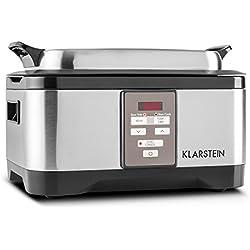 Klarstein 10028297 - Olla de cocción lenta, cocción al vacío, 6 l, 550 W, 40-90 ° C, acero inoxidable