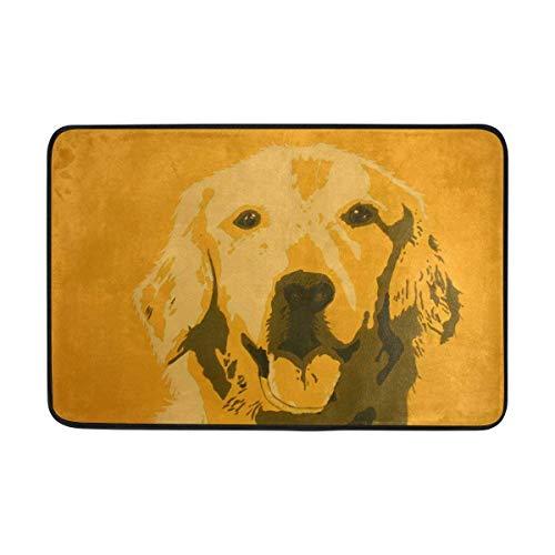 Klotr Fußabtreter, Dog Painting Doormat,Area Rug Rugs Non-Slip Indoor Outdoor Floor Mat Doormats for Home Decor 23.6 X 15.7 Inch -