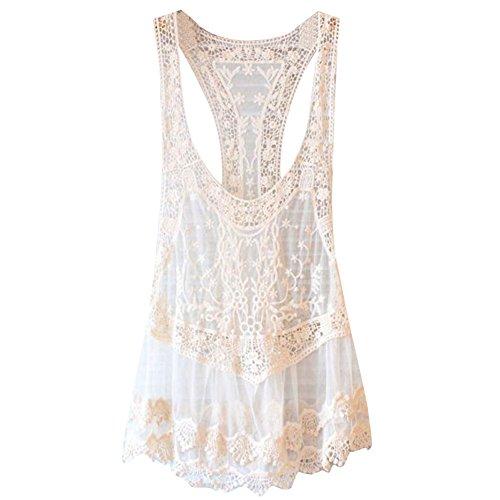 Highdas Damen Boho reizvoll tief V-Ausschnitt Bikini cover up StrandKleid Sommerkleid One Size Color F