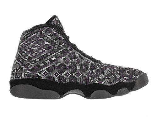 Nike Jordan Horizon Premium, Chaussures de Sport Homme, Taille Gris / Noir (Black / Purple Steel-Lght Chrcl)