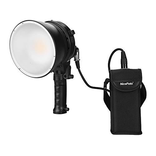 TOPTOO NiceFoto HB-600B Handheld-LED-Videoleuchte Fotografie Einfülllampe 5500K Einstellbare Helligkeit 60 W APP-Fernbedienung mit wiederaufladbarem Li-Ionen-Akku Netzteil Tragetasche