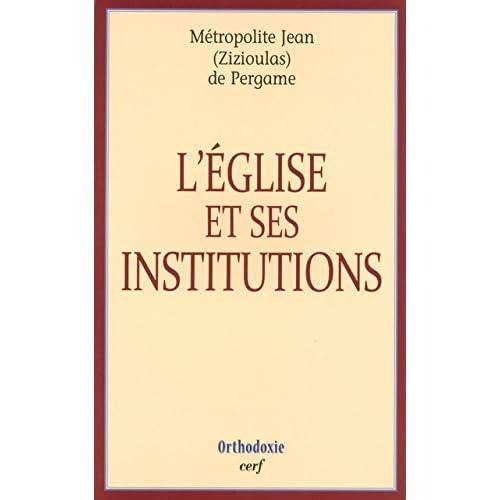 L'Eglise et ses institutions