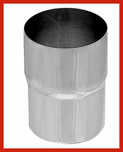 Ablaufrohrverbinder Titanzink in den Größen 60, 76, 80, 87, 100 und 120 mm (100 mm)