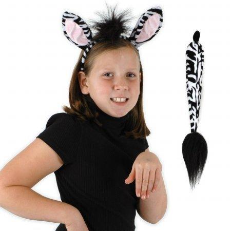Zebra Ohren Kostüm - Elope Kids 218014 Zebra Ohren und Schwanz Kit One-Size