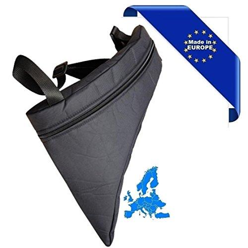 Tasche ergonomisch gepolsterter für Panflöte 18Handy Made in Europe Schulterriemen verstellbar komfortabel Reißverschluss Vorderseite Einfach öffnen und Inspektion