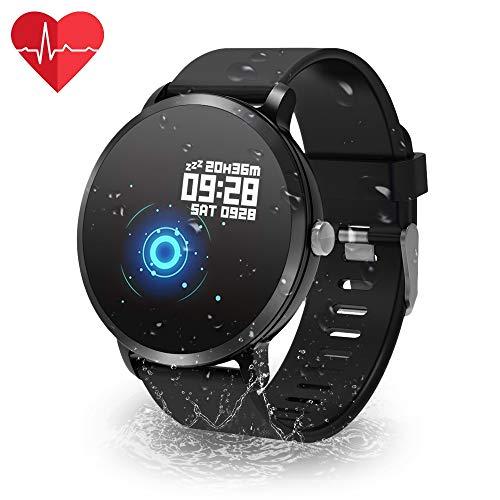 YoYoFit Orologio Fitness, Con il GPS Impermeabile IP67 Armband Pedometro Cronometro Frequenza Cardiaca Impulsi Pressione Sanguigna Ossigeno nel sangue Tempo Controllo Musicale Uomo Donna