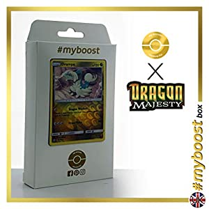 Drampa 51/70 Holo Reverse - #myboost X Sun & Moon 7.5 Dragon Majesty - Box de 10 cartas Pokémon Inglesas