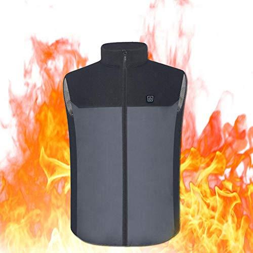 Foern Gilet Elettrico Riscaldato per Donne e Uomini Lavabile USB Ricarica Abbigliamento Riscaldato per Moto Motoslitta Bici Equitazione Golf,M