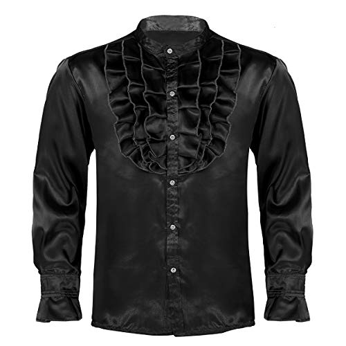 Disco Shirt Für Erwachsene Kostüm - Alvivi Herren 70er 80er Jahre Disco-Hemd