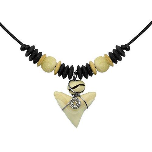 1 réglableSoul-cats® collier dent dent de requin avec pendentif Ethno Ethno cuir Surfer Shark