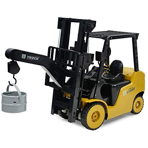 RC Auto kaufen Baufahrzeug Bild 3: Wokee 2,4 GHz RC Fernbedienung LKW Gabelstapler 1:14 Spielzeug Kinder,60 x 14,5 x 29 cm,Heavy Metal Modellbau Forklift*