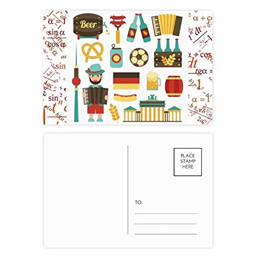 DIYthinker Fußball Bierwurst Brasilien Kulturformel Postkartenset, Dankeskarte, Mailing-Seite, 15 x...