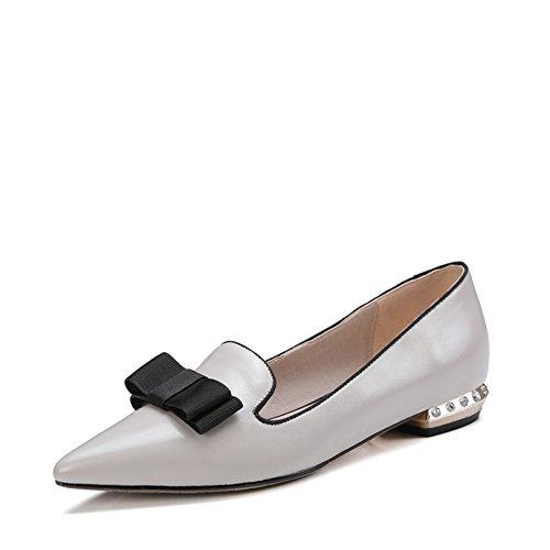 Frühjahr/Sommer Mode Dame flache Strass Spitze Schuhe/Joker einfache Bogen Schuhe B