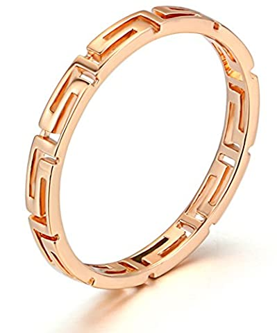 SaySure - 18K Rose Gold Plated Classic Wedding Ring
