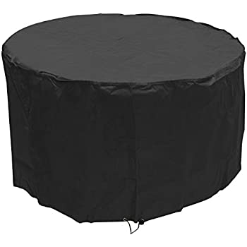 Camelot Garden Furniture Covers Camelot round set 4 6 seater cover amazon garden outdoors woodside black 4 6 seater round outdoor garden patio table cover 072m x 13m24ft x 43ft 5 year guarantee workwithnaturefo