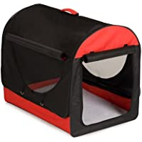 Lightweight Dog Crate - Collapsible Dog Carriers Red (Large (81cm))
