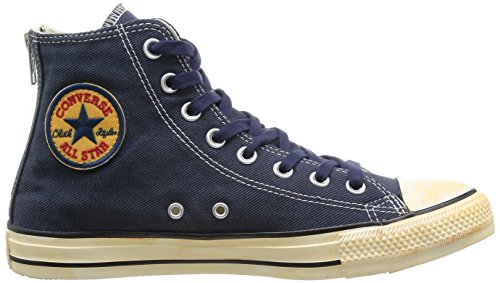 Converse, Chuck Taylor All Star Homme Vintage Washed Back Zip Twill HI, Sneaker, Uomo blu (Blau (10 MARINE))