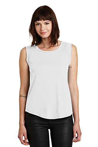 Ladies' Cap-Sleeve Satin Jersey Crew WHITE 2XL (Crew Cap Womens)