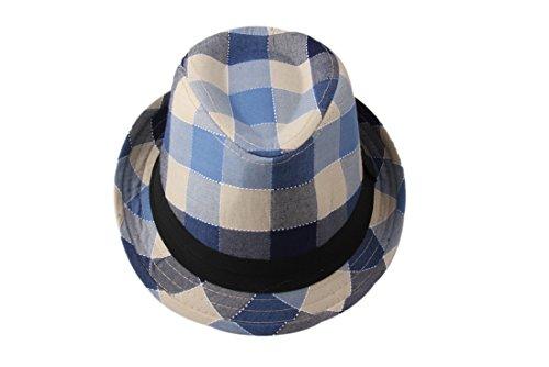 dantiya-moda-cappello-bambini-e-bamine-jazz-cappello-di-cotone-blu