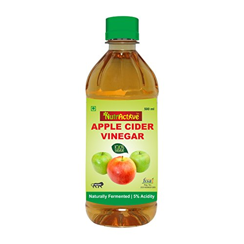 NutrActive Filtered Apple Cider Vinegar   100% Natural, 500 Ml  available at amazon for Rs.159
