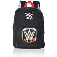 WWE Wrestling Boys Backpack | Black Canvas Kids Rucksack, Children Backpacks, School Bags | Kids Backpack With Front Pocket and Padded Straps | Official Merchandise World Wrestling Entertainment