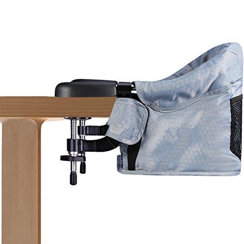 Seggiolino da tavolo per bambini con sistema di cintura a 5 punti Vbestlife Pieghevole Lavabile Seggiolone Sedia con borsa per il trasporto Portatile per la casa e in viaggio