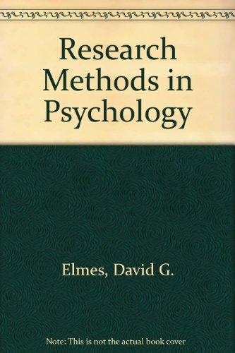Research Methods in Psychology par David G. Elmes