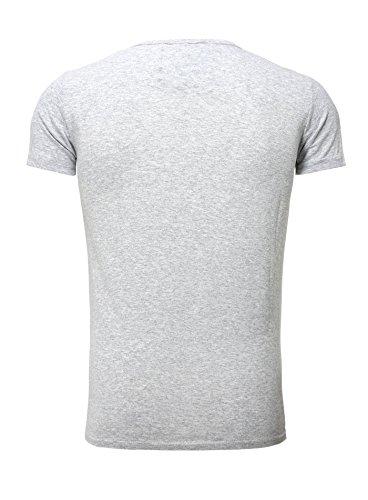 Akito Tanaka T-Shirt Printshirt Herren Vintage Summer Männer Rundhals Roller Scooter Motiv Grau