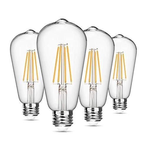 Seaside village vintage led edison-birne dimmable 8w st64 led glühfaden glühlampe 2700k weiche 820 lumen 75100w glühlampen weich weiß -