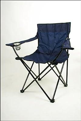 Relaxdays Faltstuhl Campingstuhl mit Getränkehalter und Tragetasche in Blau von Special-trends