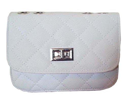aimerfeel Designer Stil gesteppte Kunstleder Cross Body Handtasche mit langer Kette, schwarz, beige, weiß und rosa