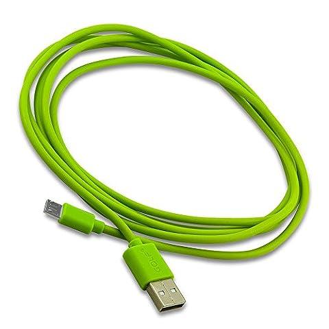 C.D.R. Markenkabel Golf 2m Micro USB Highspeed Ladekabel Datenkabel Ladegerät Daten Lade Flat Kabel für Samsung Galaxy S2 (GT-I9100), S2 Plus (GT-I9105P), S3 (GT-I9300), S3 LTE (GT-I9305), S3 Mini (GT-I8190), S3 Neo (GT-I9301), S4 (GT-I9505), S4 Mini (GT-I9195), S4 Active (GT-I9295), S5 mini (SM-G800F), S5 neo (SM-G903F), S6 (SM-G920F), S6 edge (SM-G925F), S6 Edge Plus (G928F), S7, S7 edge in 6 verschiedenen Farbe erhältlich